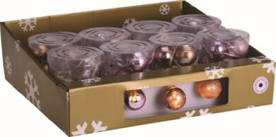 Vánoční osvětlení - řetěz, 10 LED žárovek, koule, mix barevný(10349)