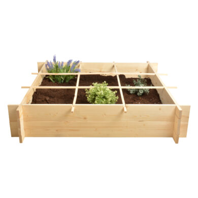 Minizahrádka na bylinky, čtverec , přírodní(54549)