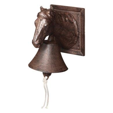 Zvonek litinový s koňskou hlavou(29007)