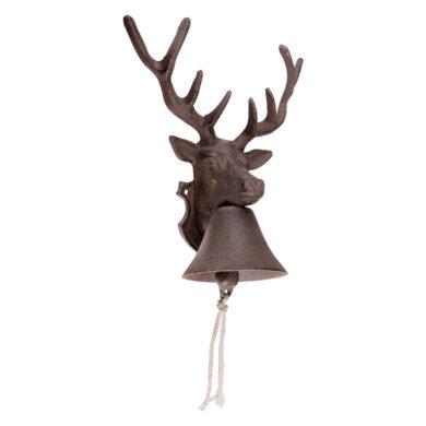 Zvonek litinový, hlava jelena(29011)