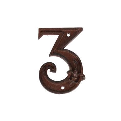 Domovní číslo 3, litina(29464)