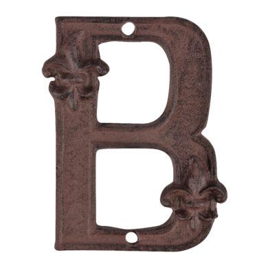 Písmeno domovní B, litina(29787)