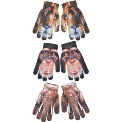 Rukavice se zvířaty, dětské, 3T , uni(5638)