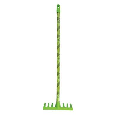Hrábě plastové, dětské, maskáč sv. zelený(54469)