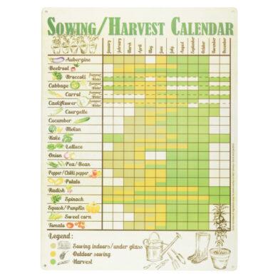 Cedulka hliníková, kalendář sklizně(53649)