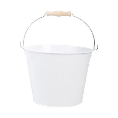 Kyblík zahradní zinkovaný, bílý(53443)