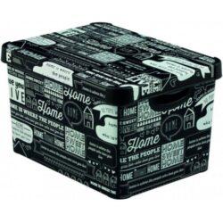 Box s víkem L HOME Deco s Stockholm-Praktický úložný box s víkem Stockholm HOME DECO