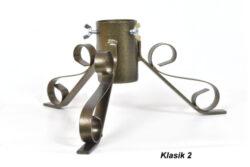 Vánoční stojánek na stromeček KLASIK 2, stříbrná antika-Stojánek na stromeček KLASIK 2, stříbrná antika