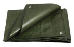 Plachta krycí  6x8m,200g zelená-Plachta zakrývací PROFI - 200 g/m2