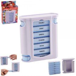 Box - organizér na léky, vertikální, týdenní-Box - organizér na léky, vertikální, týdenní