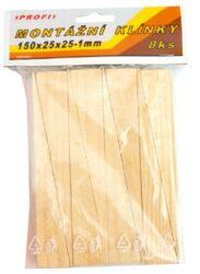 Klínky montážní dřev.150x25x25-1/8-Klínky dřevěné montážní 150x25x25-1/8