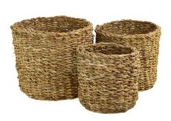 Košík mořská tráva 25x20cm kulatý-Košík mořská tráva 25x20cm, kulatý