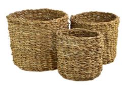 Košík mořská tráva 21x18cm kulatý-Košík kulatý mořská tráva 21x18cm