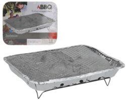 Přenosný jednorázový gril BBQ s uhlím-Gril jednorázový BBQ 31 x 24 x 5 cm s uhlím