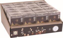 Vánoční osvětlení - řetěz, 40 LED, hvězdička, bílá-Vánoční osvětlení - řetěz, 40 LED, hvězdička, bílá