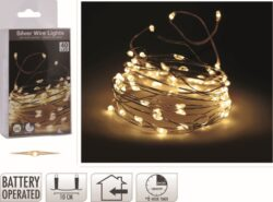 Vánoční osvětlení, řetěz 40 LED žárovek, teplá bílá-Vánoční osvětlení, řetěz 40 LED žárovek, tep. bílá