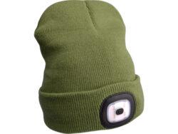 Čepice s čelovkou,nabíjecí,USB,Ze-Čepice s čelovkou, nabíjecí a s USB - zelená