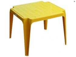 Stůl dětský žlutý-Plastový dětský stoleček