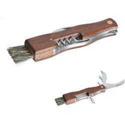 Nůž houbařský + štěteček, zavírací, 20,5x13,5cm-Nůž houbařský + štěteček, zavírací