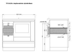 Kamna sporák VSP-9100.131 Hn,L,plas(27451)