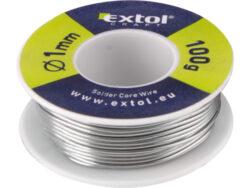 Cín pájecí pr. 1mm, Extol, 100g                                                 -Cín pájecí pr. 1mm, 100g