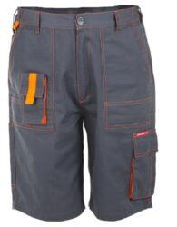 O Kalhoty šedé kr.M 164-170/82-86-Kalhoty krátké, šedé, vel. M