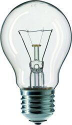 Žárovka standardní čirá pro prům. 40W, 240V, E27-Žárovka E27, 240V, 40W, čirá pro prům. použití