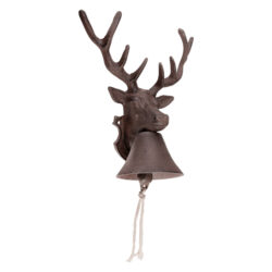 Zvonek litinový, hlava jelena-Zvonek litinový - Jelen