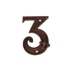 Domovní číslo 3, litina-Domovní číslo 3, litina