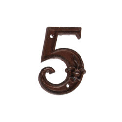 Domovní číslo 5, litina-Domovní číslo 5, litina