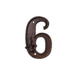 Domovní číslo 6, litina-Domovní číslo 6, litina