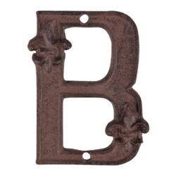 Písmeno domovní B, litina-Písmeno domovní B, litina