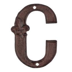 Písmeno domovní C, litina-Písmeno domovní C, litina