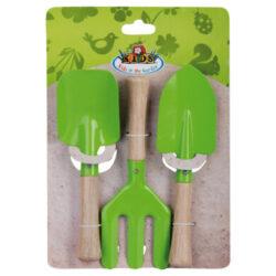Set dětského nářadí na zahradu, zelený, 2lopatky-Set dětského nářadí na zahradu, zelený