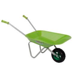 Kolečko dětské zahradní, kovové, zelené-Kolečko dětské kovové, zelené