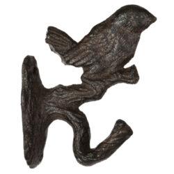 Háček nástěnný - Ptáček na větvi, litina-Háček nástěnný - Ptáček na větvi, litina
