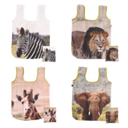 Nákupní tašky a africkými zvířaty, 4T , skládací-Taška nákupní s africkými zvířaty, skládací