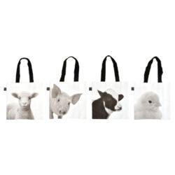 Textilní taška B+W, farmářská zvířátka-Textilní taška B+W, farm. zvířátka