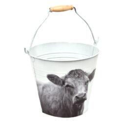 Kyblík B+W Farmářská zvířátka, v. 19,9 cm, bílá                                 (54499)