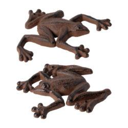 Dekorace nástěnná Žabka, 2T, litina-Dekorace nástěnná Žabka, litina